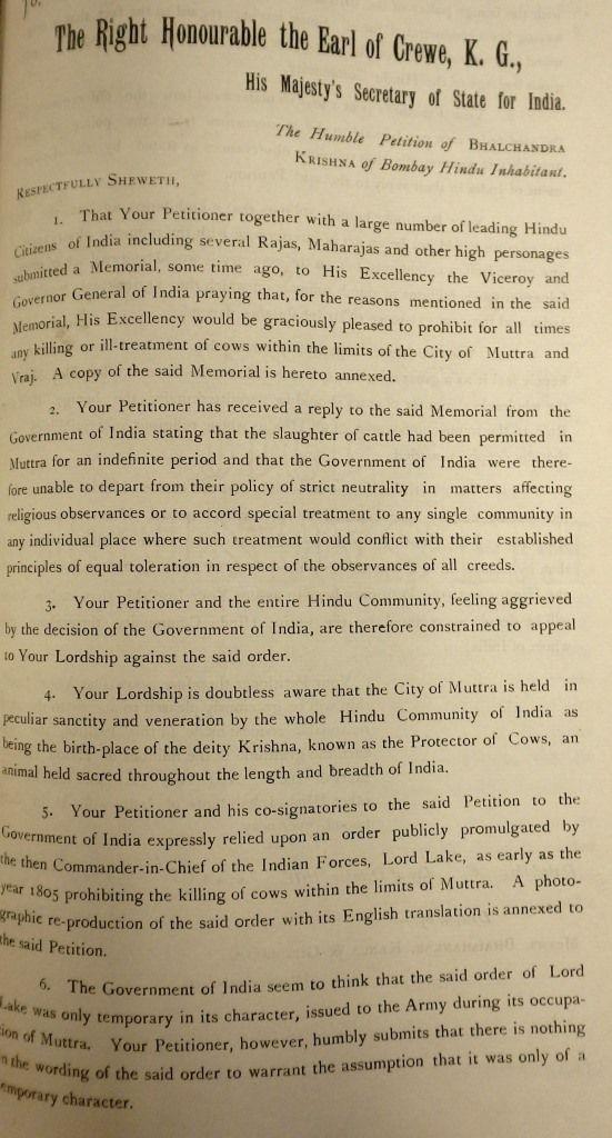 Bhalchandra Krishna's Petition