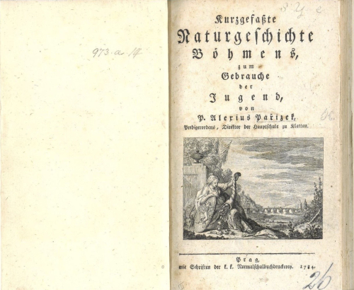 Frontispiece of Pařízek's 'Kurzgefaßte Naturgeschichte Böhmens...'