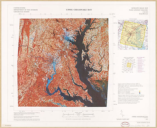 Upper Chesapeake Bay satellite image map