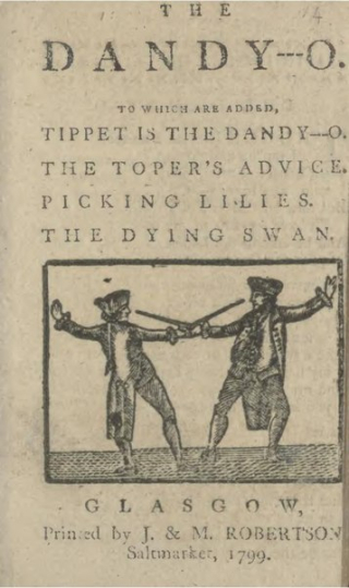 Illustration of two 18th century men fighting with swords