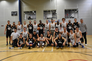 Two teams at a London Basketball Nation event
