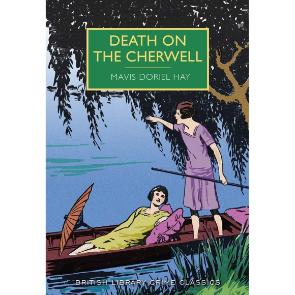 Cover of Death on the Cherwell showing two girls in a punt