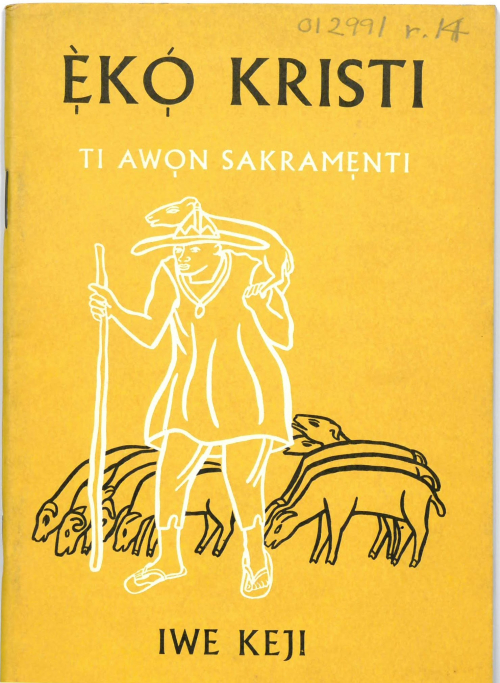 Kristi ti Awon Sacramenti. Shelfmark General Reference Collection 012991.r.14