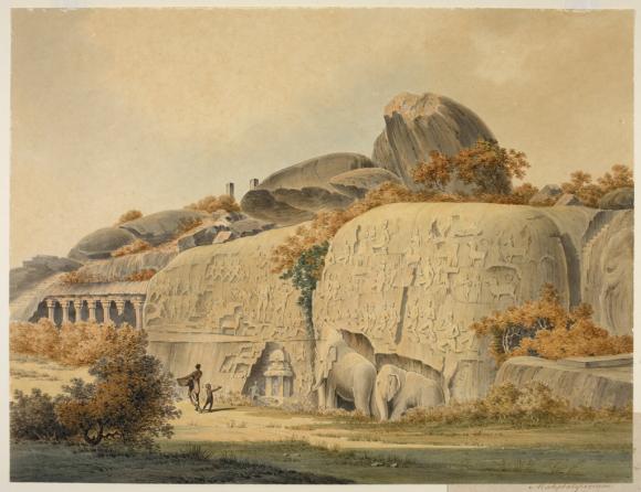 The rock sculpture of Arjuna's Penance, Mahabalipuram