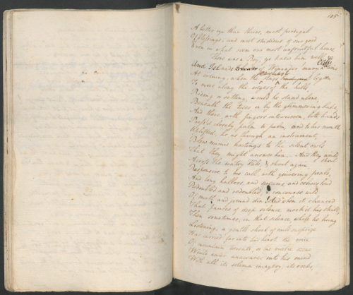 Manuscript of The Prelude, by William Wordsworth. Dove Cottage. © Dove Cottage - Wordsworth Trust