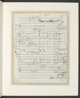 Cancelled folio from Mahler's draft orchestral full score of his Symphony no.9 in D major