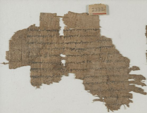 Fragment from a papyrus sheet preserving the testament of a man