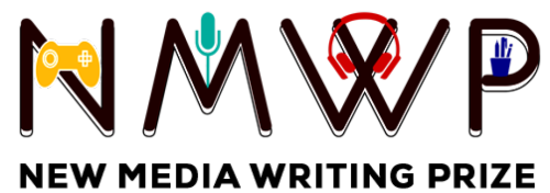 NMWP logo, with a game controller on the N, a microphone on the M, headphones on the W and a pen pot on the P
