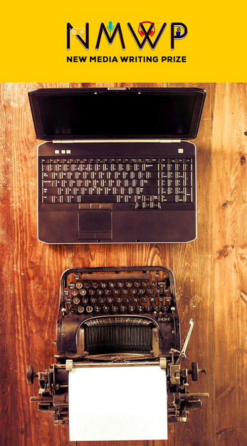 A laptop and an old fashioned typewriter facing each other