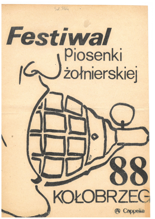 Poster with the logo of A Cappella