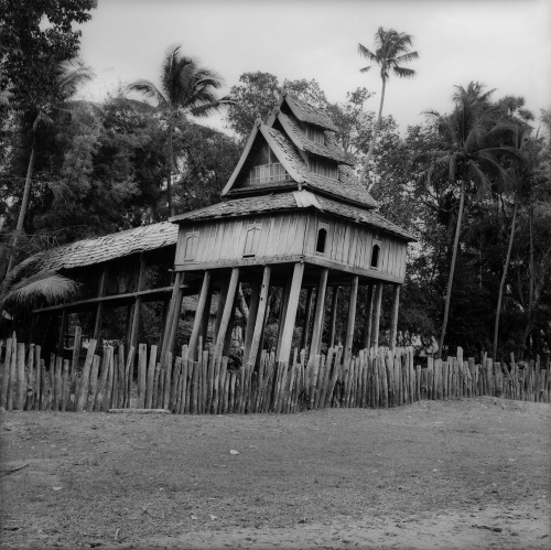 Historic wooden Library of Vat Nong Lam Chan photograph by Hans Georg Berger