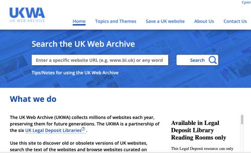 UKWA website 2018
