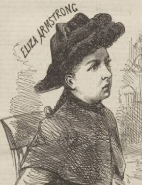 Eliza Armstrong at the Old Bailey trial in 1885 from Penny Illustrated Paper 12 September 1885
