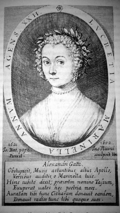 Engraving of Lucrezia Marinella