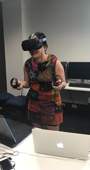 Fig. 1 Angel Leelasorn testing out (VR)2