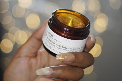 Evolve's bio-retinol Gold Mask Lights in glass jar