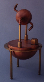 A replica of Hero's steam engine