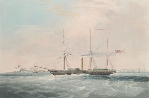 Berenice standing out of Bombay Harbour 1837