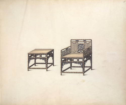 Speckled bamboo Chinese furniture