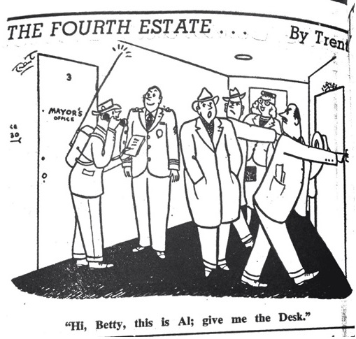 Image of cartoon stripe from the newspaper Editor & Publisher published on September 18, 1953