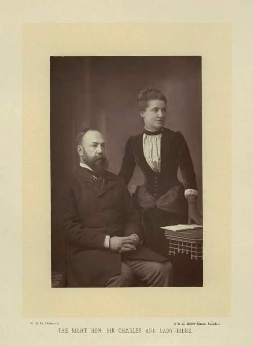 Photographic portrait of Emilia Dilke and her second husband, Charles