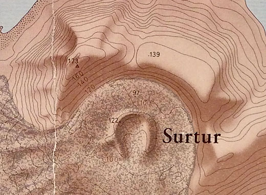 Detail of Surtsey Map