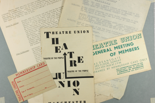 A selection of notes programmes and other papers relating to theatre unions work in the thirties