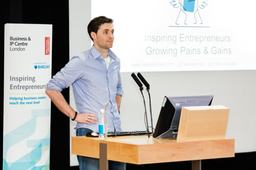 Eamon Fitzgerald, conducting a talk at the Inspiring Entrepreneurs: Growing Pains and Gains event hosted by the Business & IP Centre at the British Library
