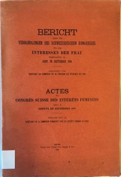 Schweizerischer Kongress für die Interessen der Frau 8416.h.26.