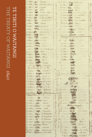 Front cover of Te Tiriti o Watangi = The Treaty of Waitangi, 1840 by Claudia Orange. Bridget Williams Books, 2017. Shelfmark YD.2017.b.550