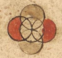 coloured foundel in a Quran manuscript -15406-f.18v