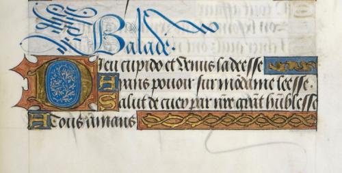 Beginning of Charles' poem 'Dieu Cupido, et Venus la Deese'