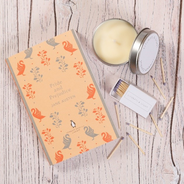 Pride and Prejudice candle and book 2