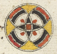 Roundel marking part of juz' 10-Or_16915_f088v