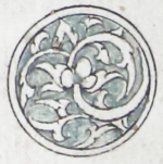 Illuminated marginal medallion indicating the start of a new juz'-EAP1020-5-1.98-juz-b