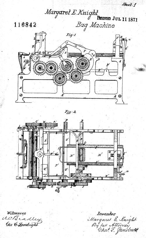 Patent for Bag Machine