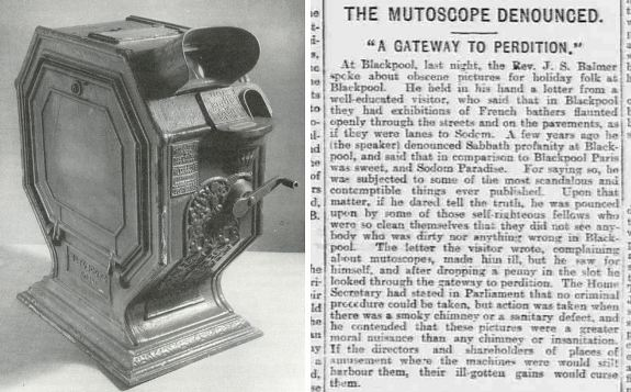 Mutoscope and Sheffield Evening Telegraph newspaper article