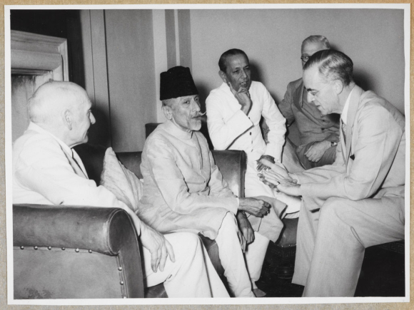 The Cabinet Mission with Congress President Maulana Azad