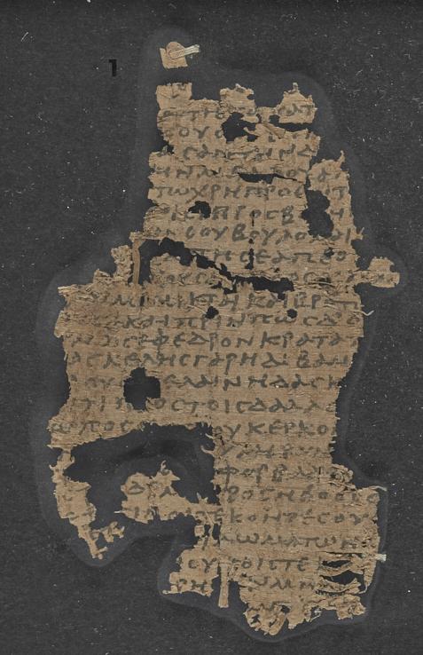 A fragmentary Greek papyrus