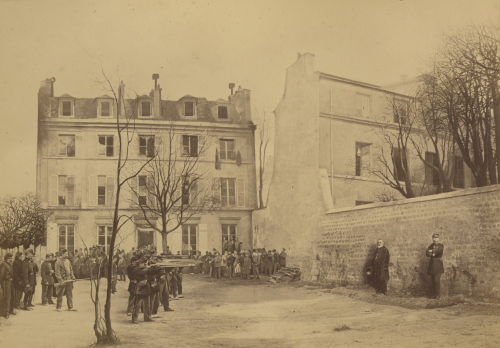 Staged photo depicting the assassination of Generals Clément-Thomas and Lecomte