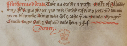 Flathouns recipe in a medieval manuscript
