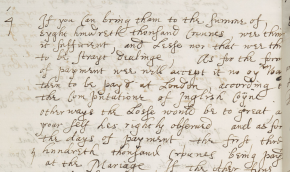 Article 4 f.84v Stowe MS 174 - dowry