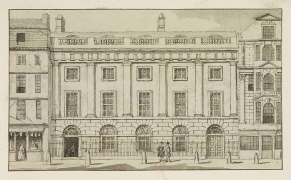 View of East India House in the City of London in 1760s