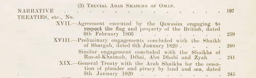 From the contents of 'A collection of treaties, engagements and sanads relating to India and neighbouring countries