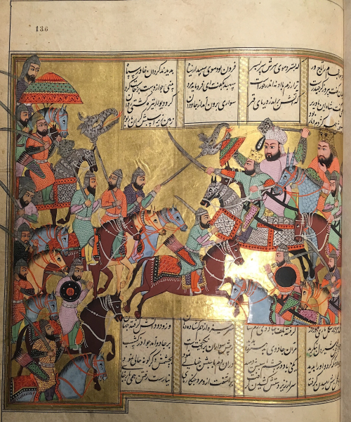 'Ali and his followers leading the army of Islam against Khavar and the sorcerers