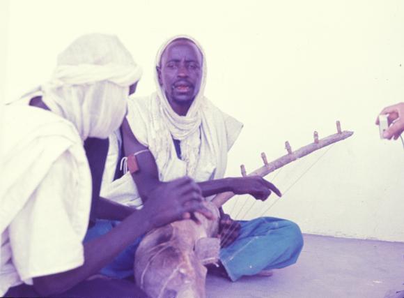 Musicians playing the biram