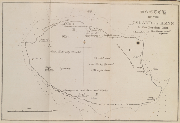 Sketch of Kish Island by Captain Thomas Remo