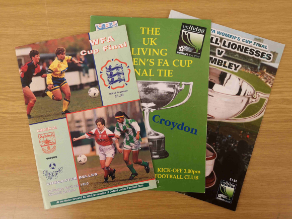 Selection of Women's Football Association programmes from the 1990s
