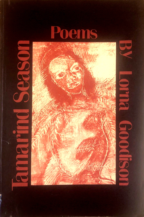 Book cover with title and red etching of a face surrounded by