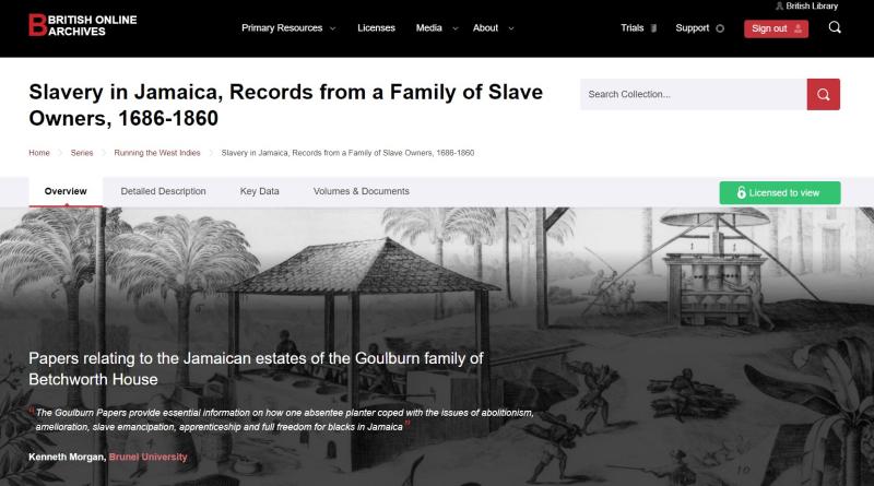 BAO Slavery landing page